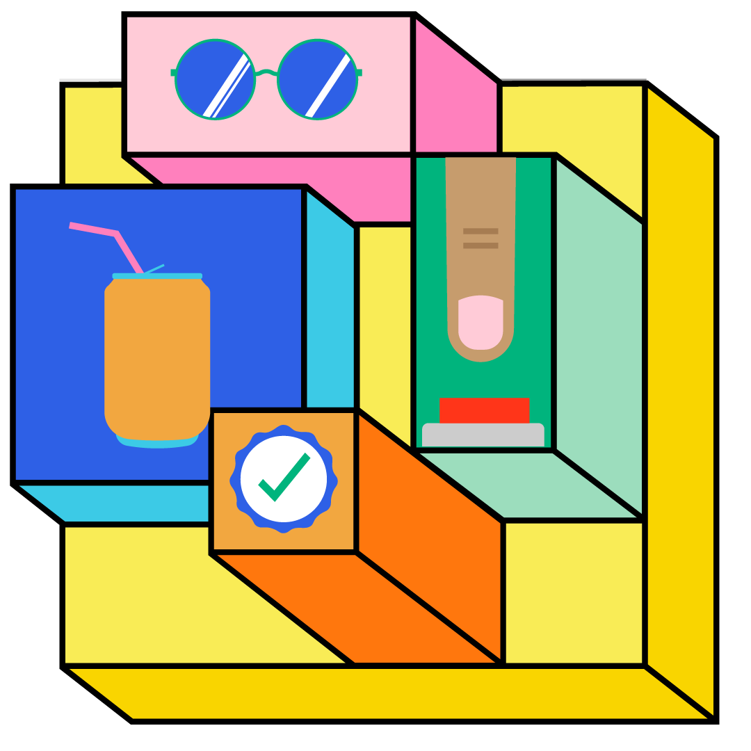 Coloured blocks